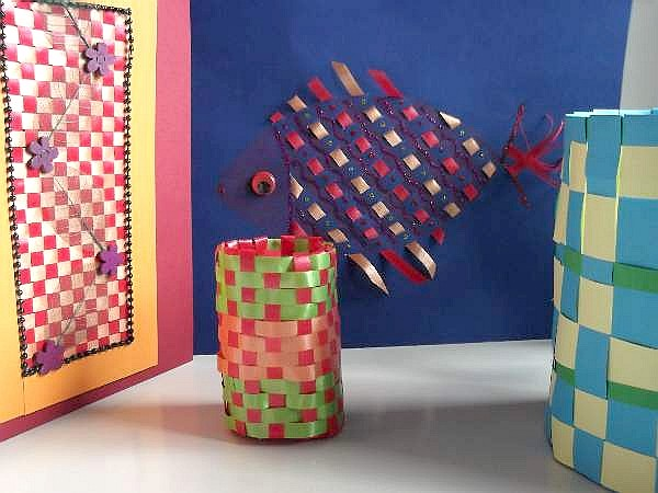 Paper Weaving Crafts For Kids