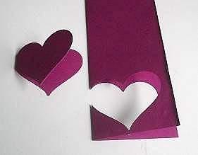 make a mini heart card