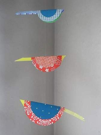 Bird Mobile closeup