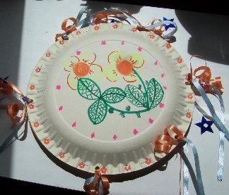 tambourine craft and paper plates