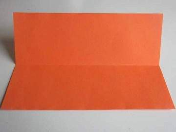 Folded Af orange paper