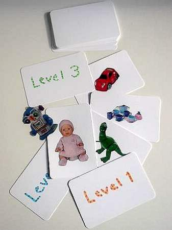 homemade picture flash cards for infants