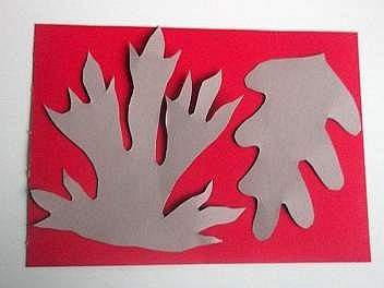 making red leaves from card