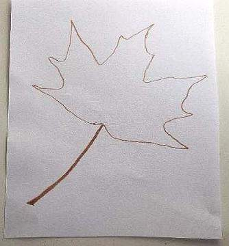 outline of leaf