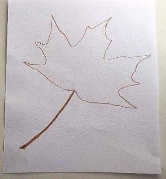 outline of leaf