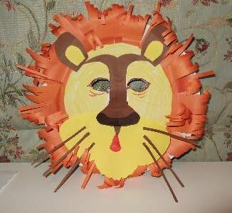Paper Plate Lion Mask & Paper Plate Craft for Kids