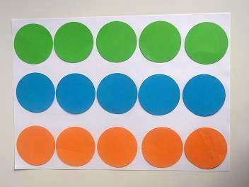 make a board game paper circles