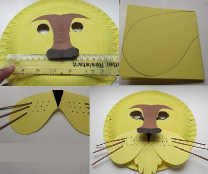 How To Make A Lion Mask Out Of Cardboard
