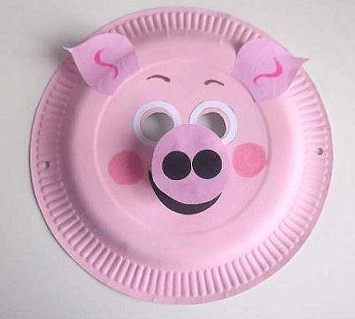 paper plate pig mask & Craft Animal Paper Plate Masks