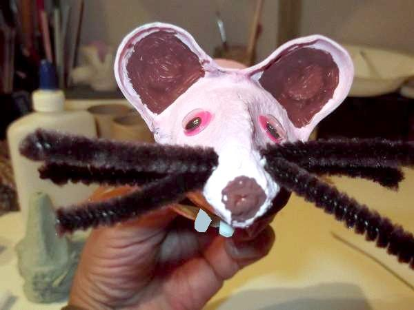 mouse whiskers made out of pipe cleaners