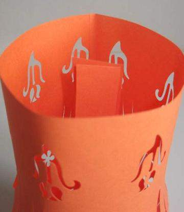 glueing the inside of a paper lantern