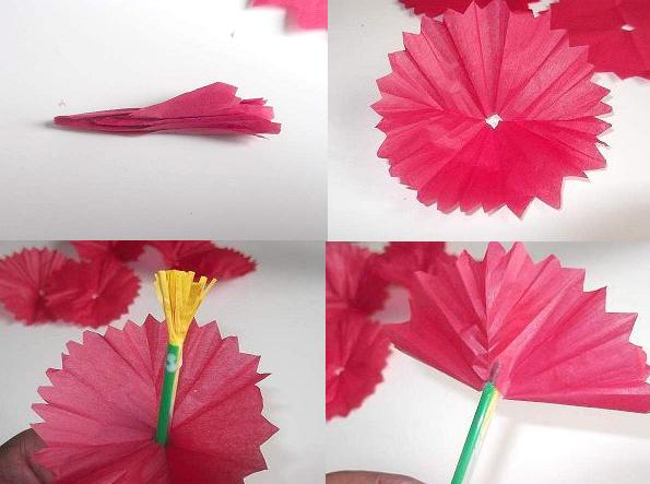 Flower made from tissue paper boatremyeaton make tissue paper flowers mightylinksfo