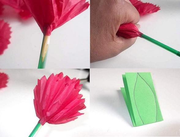 Making A Flower Out Of Paper Make Tissue Flowers