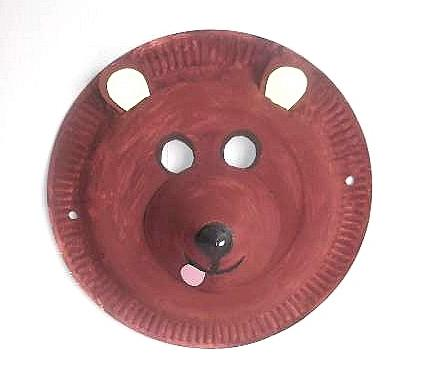 paper plate bear mask  sc 1 st  Kool Kids Crafts : bear paper plate craft - pezcame.com