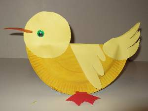 rocking paper plate duck
