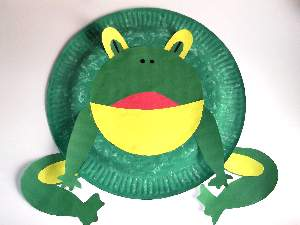 Paper plate frog mask template