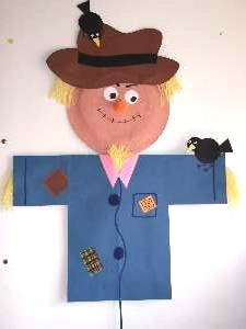 Return to Home Page & Paper Plate Scarecrow Craft