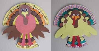 paper plate turkeys & paper-plate-turkeys.jpg