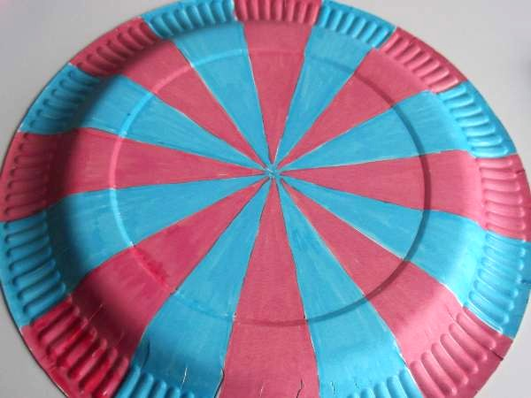 To make the sails draw equally spaced radius lines on the plate. A good way to do this is to draw 2 lines that cross at the center and keep iding them ... & Make a Paper Wind Turbine