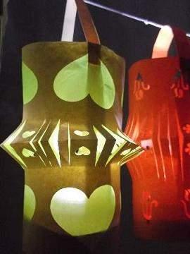 lit up paper lanterns