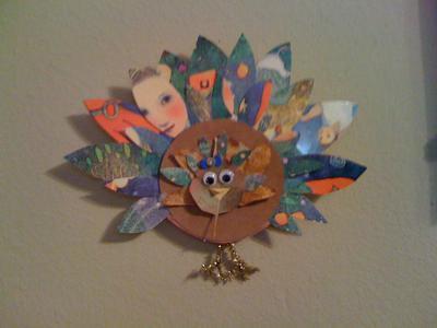 greetings card turkey decoration