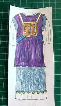 kids drawing of a Jewish Priests Tunic