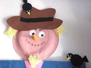 & Paper Plate Scarecrow Craft