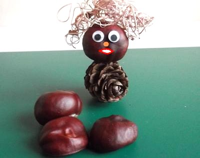 man made from conkers