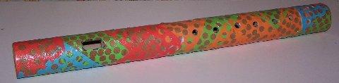 homemade cardboard tube flute