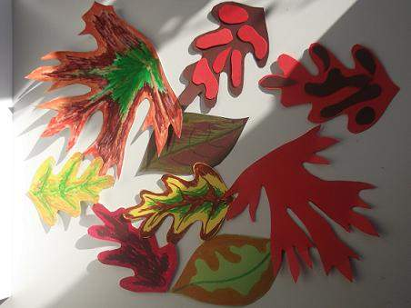 Autumn leaves made with card