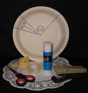 paper plate princess materials and tools
