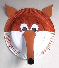 paper plate fox mask