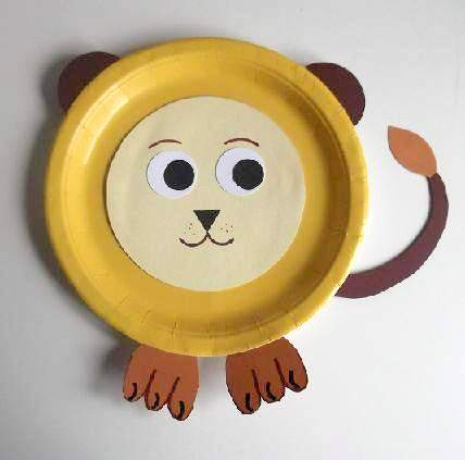 Paper Plate Lion Craft Projects & Paper Plate Lion - Castrophotos