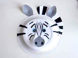 how to make a zebra mask out of paper