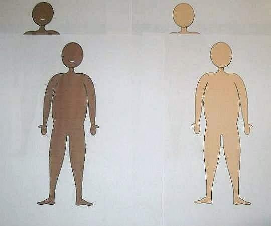 printed human figures