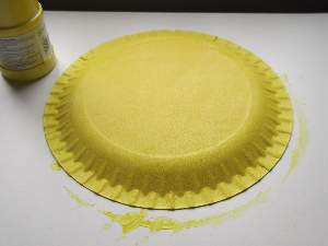 paper plate painted yellow